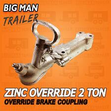 Override Coupling Hydraulic Mechanical 2000kg Zinc Hitch Camper Trailer 1202102