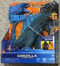 Godzilla w/ Radio Tower - Playmates Toys Godzilla vs Kong Movie Monsterverse NIP