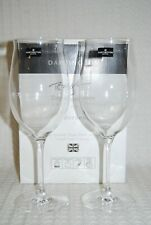 Dartington Crystal 2 x Bordeaux wine glasses Tony Laithwaite signature series