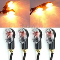 4X Universal Motorcycle Halogen Bulb Turn Signal Blinker Indicator Light Amber