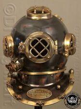 """Antique Scuba 18"""" Diving Helmet U.S Navy Mark V Vintage Divers Helmet Replica"""