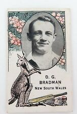 ".c1930s SUPER RARE DON BRADMAN CARD. BARRATT & CO LTD ""AUSTRALIAN TEST PLAYERS"""