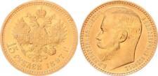 Russland 15 Rubel 1897 Gold Nikolaus II. 1894-1917 vz-prfr.seltene Erhaltung