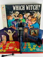 Vintage 1970 Milton Bradley Which Witch? Halloween Horror Board Game 99%