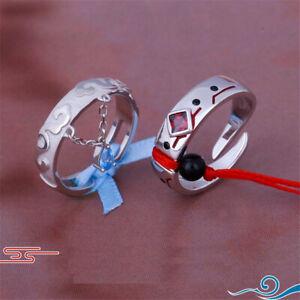 Anime Mo Dao Zu Shi 925 Silver Ring Wei Wuxian Lan Wangji Cosplay Couple Jewelry
