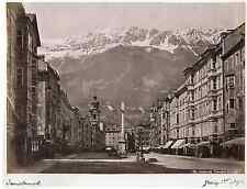 Innsbruck Theresien Strasse Vintage albumen print  Tirage albuminé  20x25