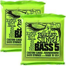 One Set of Ernie Ball 2836 Bass Guitar Strings 5-String 45-130 Max 10% Discount
