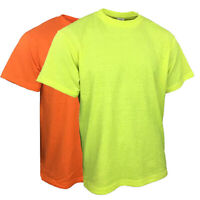 Safety High Visibility/Hi Vis Short Sleeve Construction Work Shirts NON ANSI