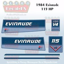 1984 Evinrude 115 HP V4 Outboard Reproduction 6 Pc Marine Vinyl Decals 115TLCR