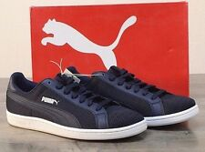NEW Puma Men's 10 MED Smash Knit Lace Up Shoe Navy Sneakers Shoes 36545804 NIB