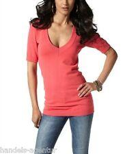 Pullover Damen Damenpullover Long-Form Gr. 38, 40, 42 Farbe hummer