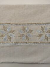 Snowflake Pillow cover case ONLY 19X19 holiday sequins star gold silver