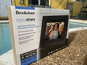 Brookstone 10.1 Inch PhotoShare Touchscreen Smart Frame With Wi-Fi