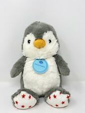 Cloud B Dreamy Hugginz Penguin Plush Stuffed Animal Toy Lovey Red Stars Gray
