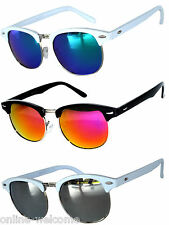 80212a4a0d Set of 3 Half Frame Semi Rimless Horn Rim Sunglasses 2 White 1black Frame  Mirror