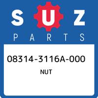 08314-3116A-000 Suzuki Nut 083143116A000, New Genuine OEM Part