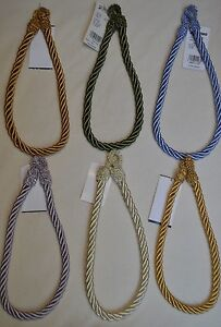 """Curtain & Chair Tie Back - 22""""spread rope - 1/2"""" wide -11 colors to choose from!"""