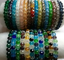 """8mm Crystal Glass Faceted Rondelle Bead 7"""" Bracelets  -  New Summer Gifts  - UK"""