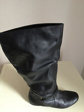WOMENS BLACK DOROTHY PERKINS KNEE HIGH RIDING BOOTS – SIZE 5