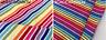 "Multi Striped Rainbow Jersey Knit 4W Stretch Headband Rib Cuff Fabric -61"" wide"