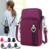 Cross-body Mobile Phone Shoulder Bag Pouch Case Belt Handbag Purse Wallet GEMS