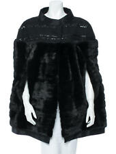 J. MENDEL MINK Fur CAPE with Tweed and Sequins, RT$16,500!  One Size