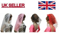 VEIL ON HAIR BAND FOR HEN NIGHT AND FANCY DRESS.
