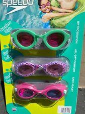 New listing NEW Speedo Kids Anti Fog Swim Goggles 3 pack Ages 3-8 ~ Fun Prints,Anti-fog, UV