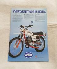 KTM BORA 80CC Motorcycle Sales Brochure c1986 GERMAN TEXT
