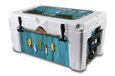 Thickest Wrap 24mil Skin L+I for Igloo Sportsman 40qt Cooler Gone Fishing