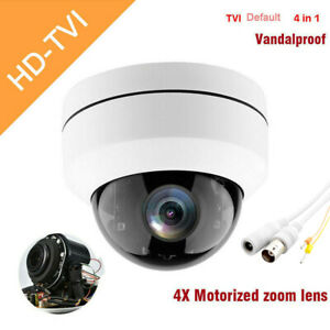 TVI 2.5'' 1080P AHD Dome CCTV Camera 4X Zoom 4in1 Sercurity Night Vision Outdoor