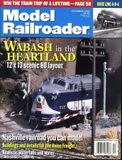 Model Railroader Magazine December 2000 Wabash in the Heartland 12x13 HO Layout