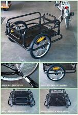 "Bicycle Cargo/Dog Trailer 16"" Q/R Bike Wheels Folds Flat 60kg Max"