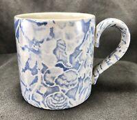 Scilla Lillian Delevoryas Mug Tea Cup ICTC Burleigh Staffordshire Blue Floral