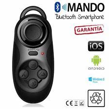 Mini Bluetooth Wireless Game Pad mando  distancia iOS Phone Android Tablet negro