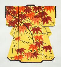 Autumn Japanese Maple Leaves LG. Kimono handpainted Needlepoint Canvas by LEE