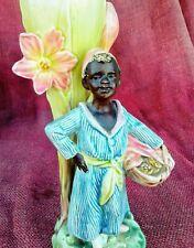 """11.5""""T Majolica Blackamoor Vase In Vary good Condition Check Photos."""