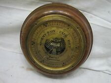 New listing Vintage Wooden Base Barometer Pantax England Brass Weather Gage Wood Gauge Tool