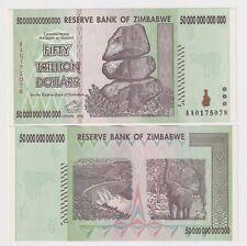 ZIMBABWE 50 TRILLION DOLLARS, 2008, P-90, AA PREFIX XF/AU BANK NOTE