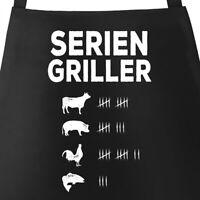Grill-Schürze für Männer mit Spruch Seriengriller Strichliste Baumwoll-Schürze