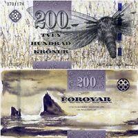Faeroe Faroe Islands 200 Kronur, 2011(2012), P-31, UNC