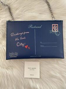 New Kate Spade Bon Voyage Off The Grid Postcard Letter Crossbody Bag Novelty