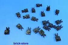 LEGO® /  1x1 Platten mit clip schwarz  / horizontal vertikal / 20 Stück