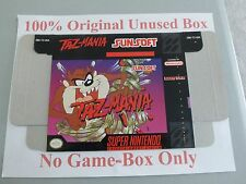 Tazmania, 100% Original Unused Box Only, SNES, Super Nintendo, Very Rare