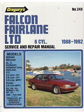 FORD FALCON FAIRLANE LTD 6 CYL SERVICE & REPAIR WORKSHOP MANUAL 1988 - 1992