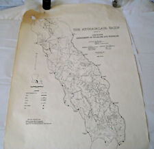 1984 Map The Atchafalaya Basin Louisiana Depart Wildlife And Fisheries 25 x 38""