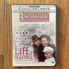 Life Is Beautiful Dvd, 1999 Widescreen Edition Roberto Benigni New & Sealed