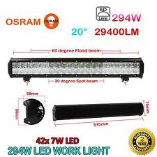 294W 20Inch 29400LM 5D Lens 42X OSRAM LED Light Bar Combo Car JEEP 4WD Work Lamp