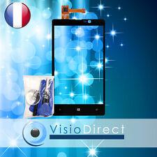 Ecran vitre tactile pour Nokia Lumia 820 noir + stickers pré installé + outils