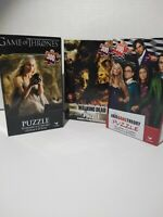 "3 awesome puzzles. ""The Big Bang Theory"" ""Walking Dead"" & ""Game Of Thrones""."